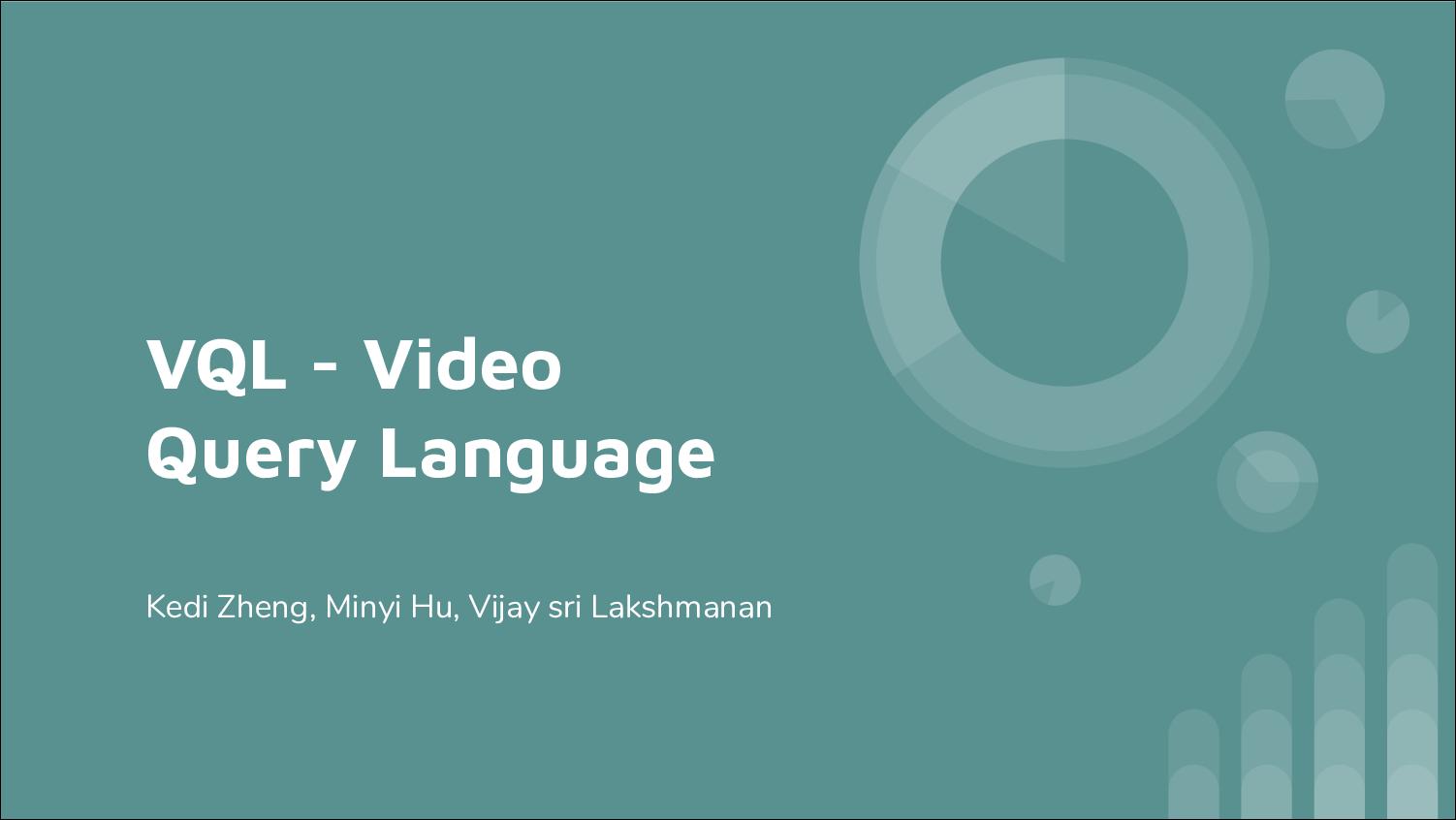 [PRESENTATION] VQL: Video Query Language